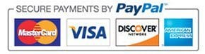 We take most major credit cards as well as PayPal.