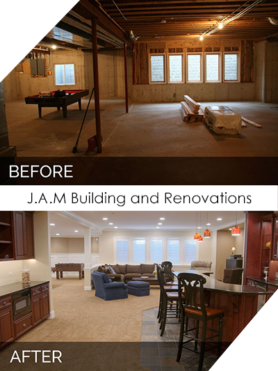 Basement Renovation - Before and After