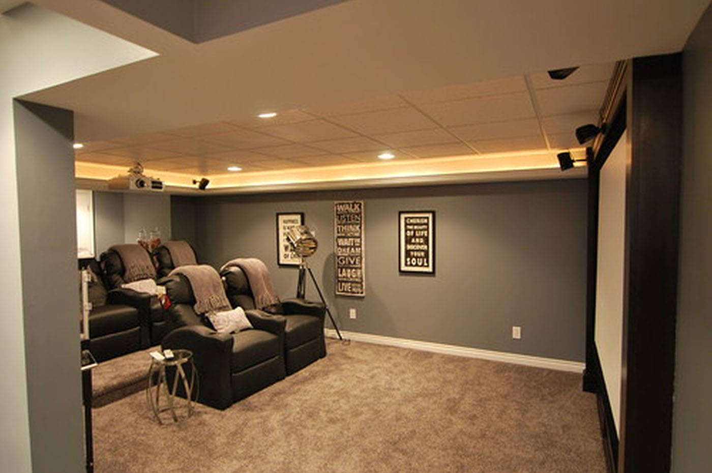 Enjoy watching your favorite television and movies from your own private theater room.